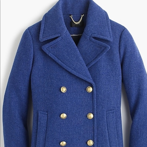 J. Crew Jackets & Blazers - J Crew stadium cloth Nello Gory 10 blue gold